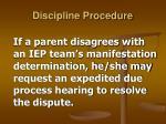 discipline procedure27