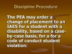 discipline procedure30
