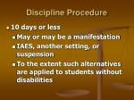 discipline procedure31
