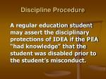 discipline procedure33