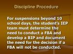 discipline procedure6