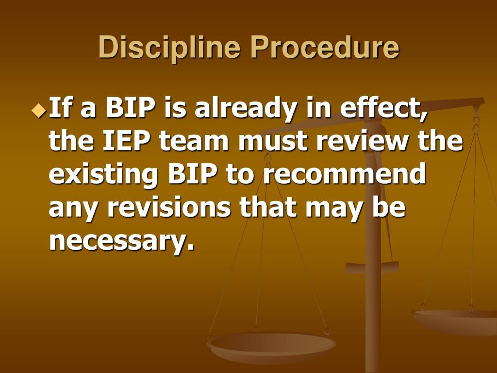 Discipline Procedure