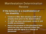 manifestation determination review23