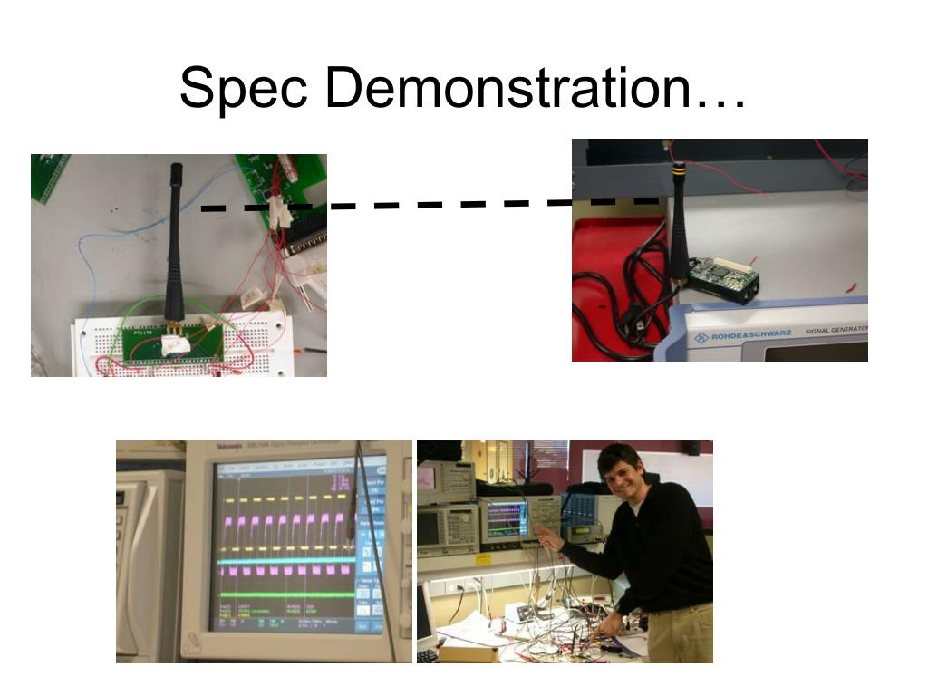 Spec Demonstration…