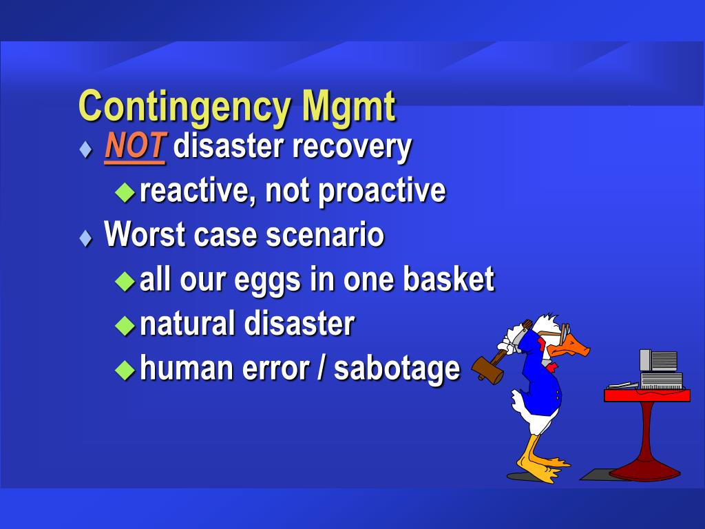 Contingency Mgmt
