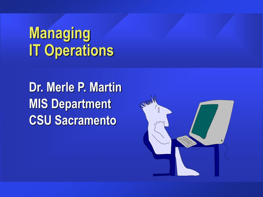 managing it operations