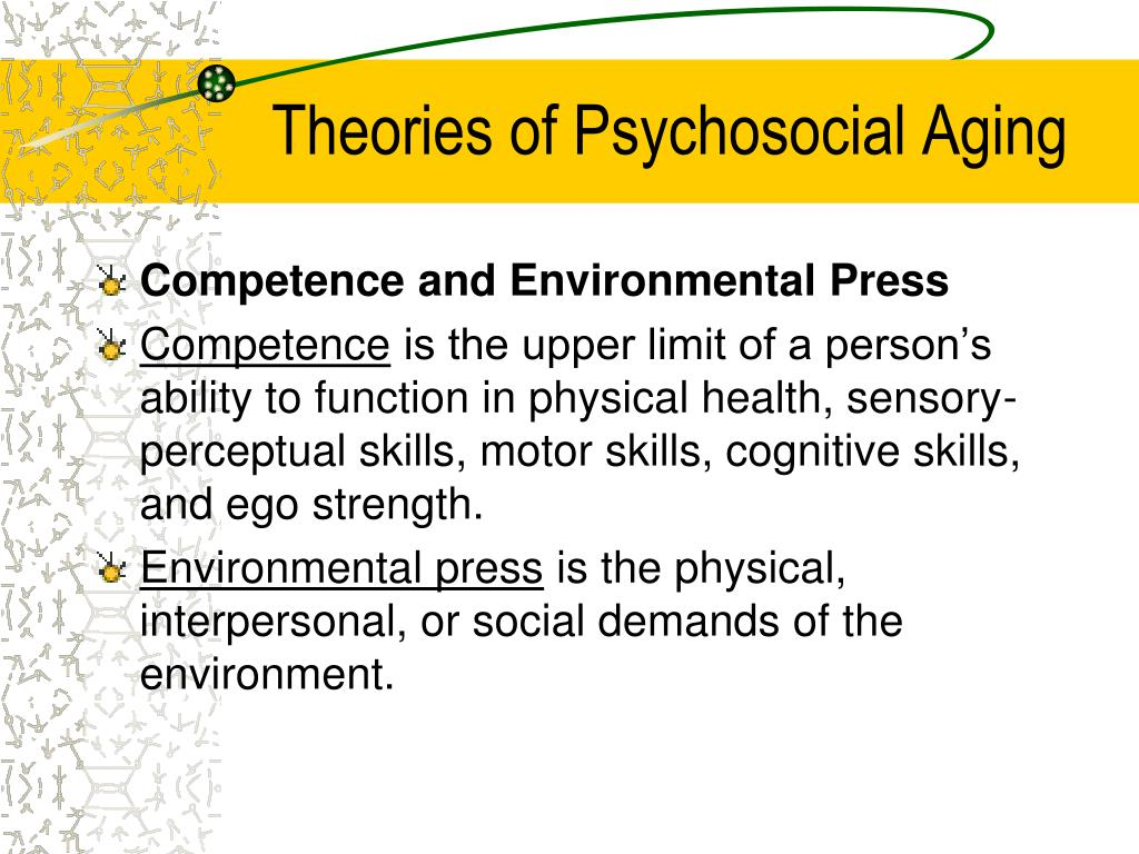 Ppt Social Aspects Of Later Life Psychosocial