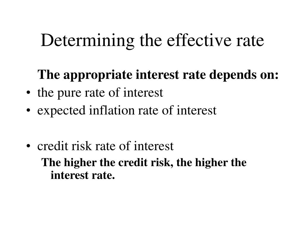 Determining the effective rate