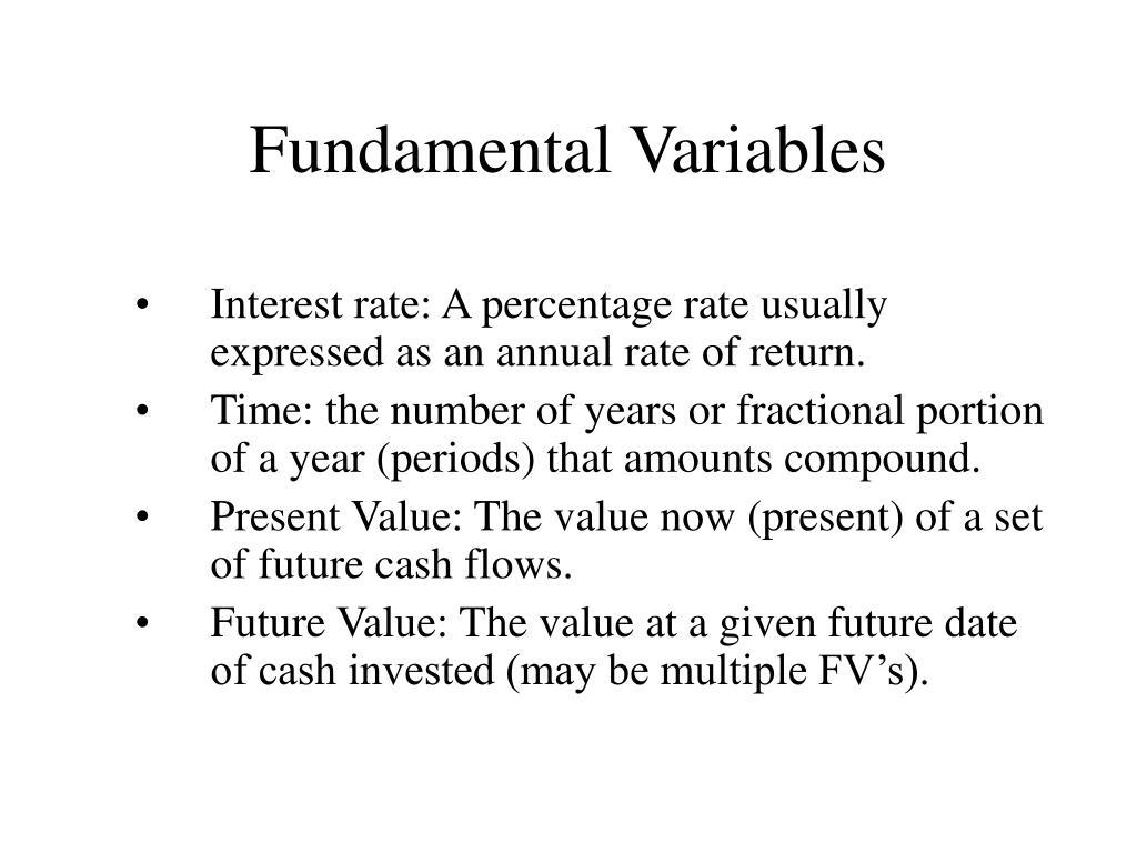Fundamental Variables