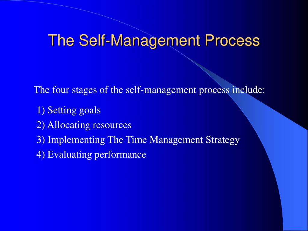The Self-Management Process