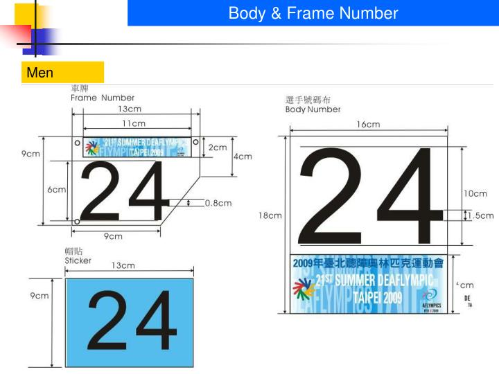 Body & Frame Number