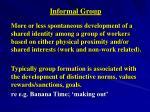 informal group