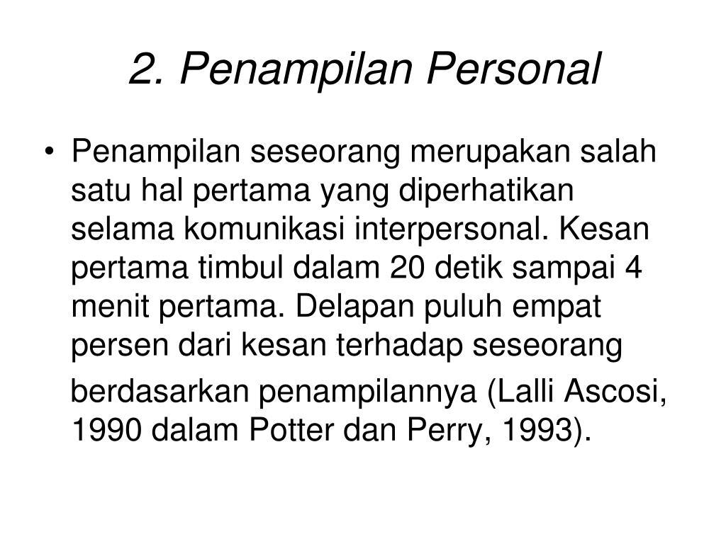2. Penampilan Personal