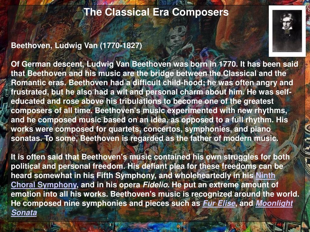 The Classical Era Composers