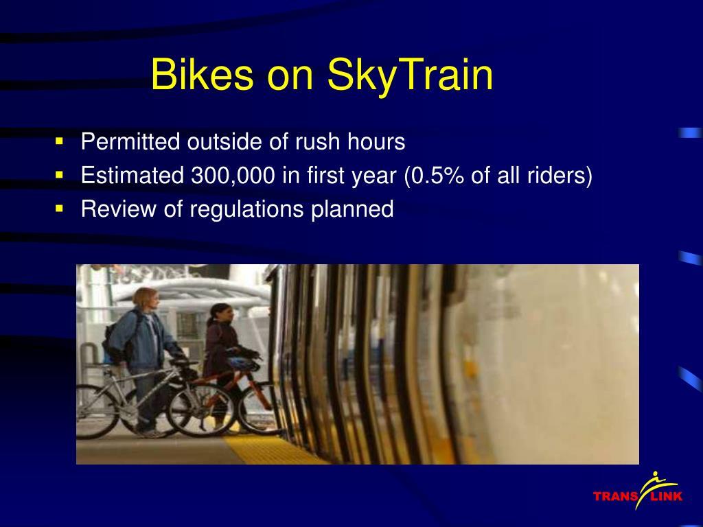 Bikes on SkyTrain