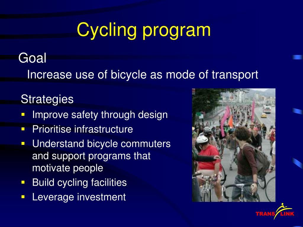 Cycling program