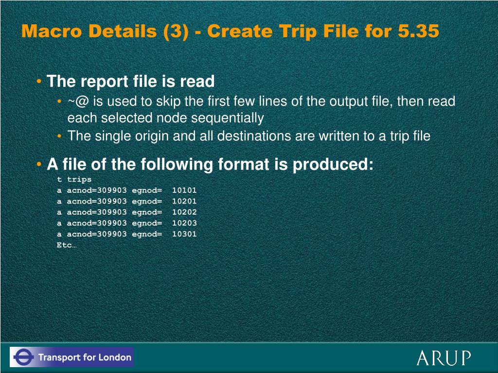 Macro Details (3) - Create Trip File for 5.35
