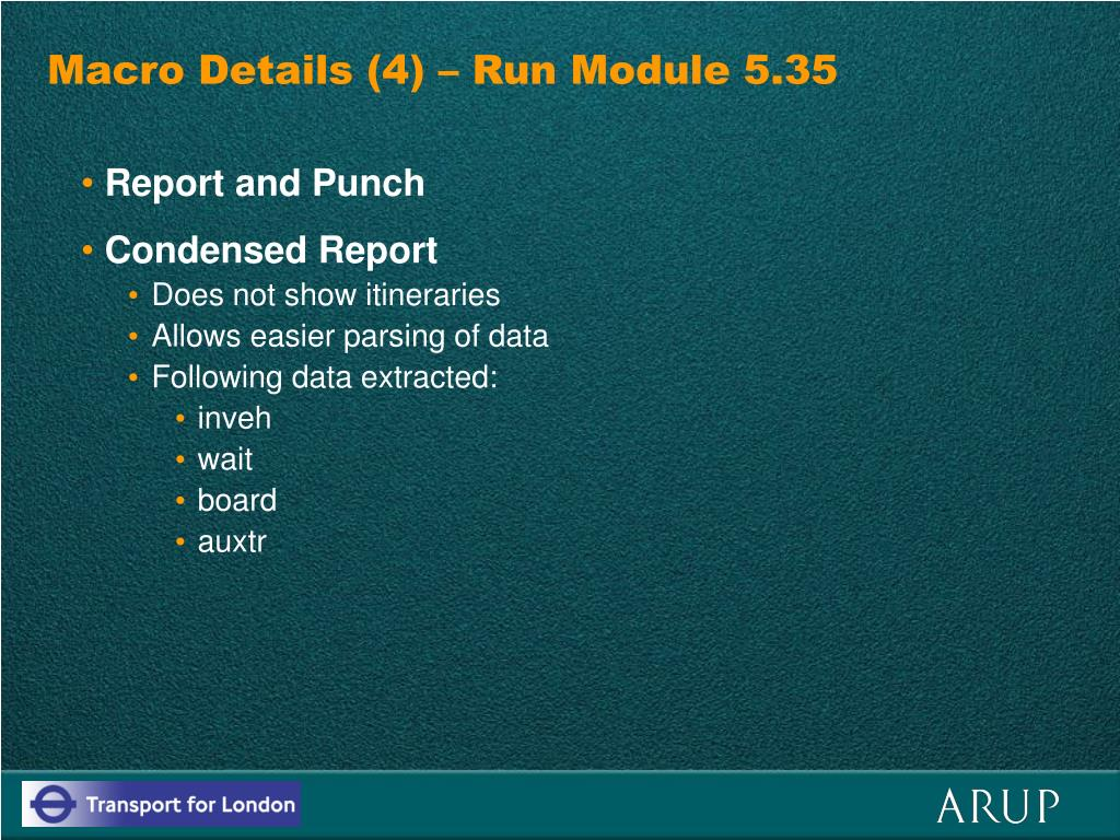 Macro Details (4) – Run Module 5.35