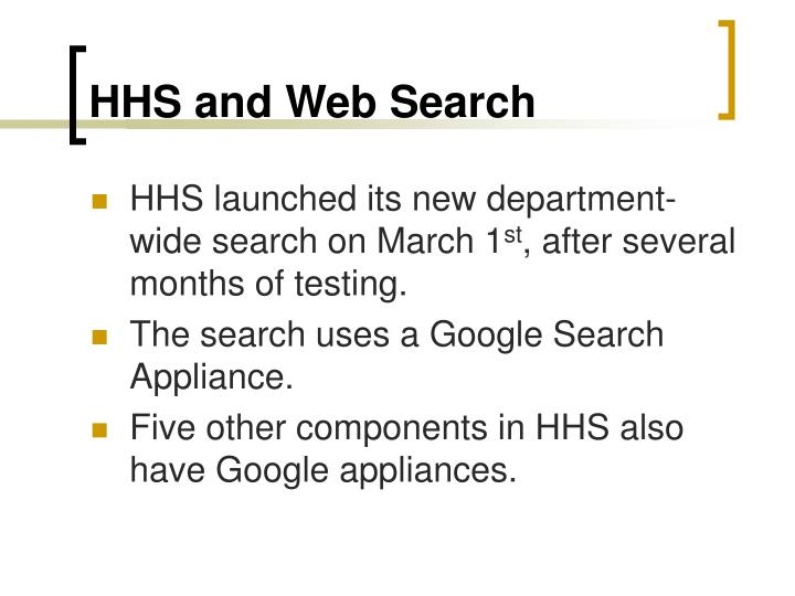 HHS and Web Search