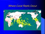 where coral reefs occur