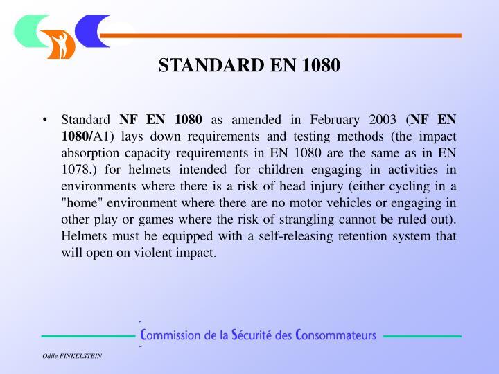 STANDARD EN 1080