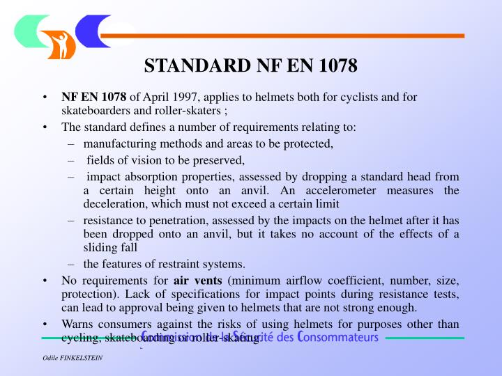 STANDARD NF EN 1078