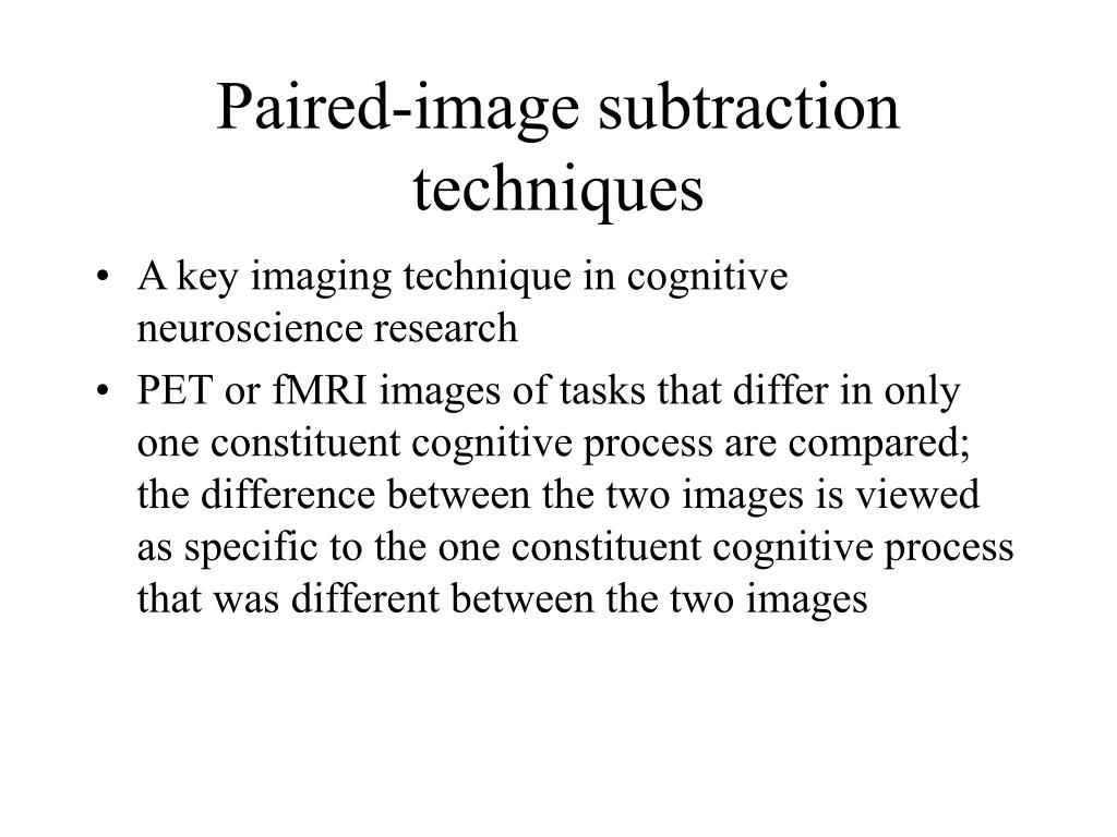 Paired-image subtraction techniques
