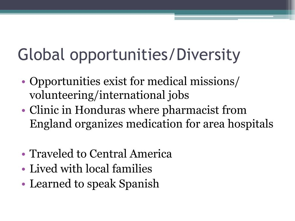 Global opportunities/Diversity