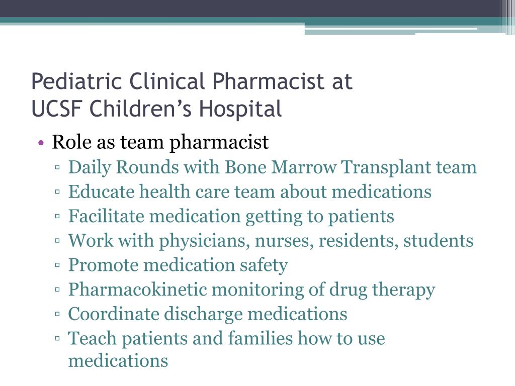 Pediatric Clinical Pharmacist at