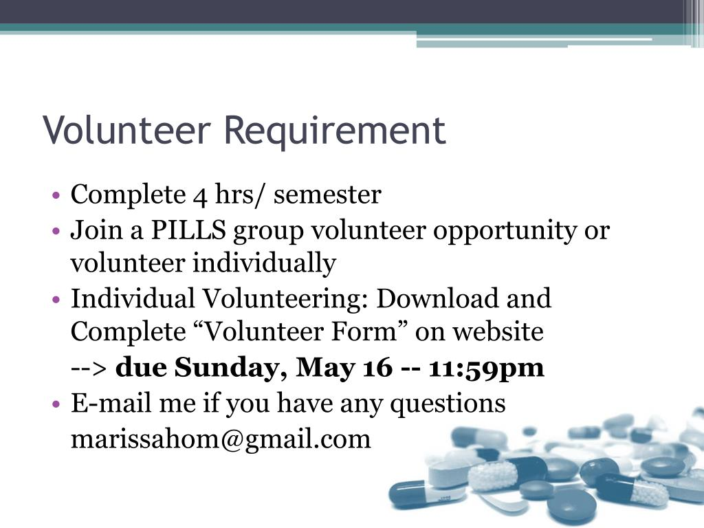 Volunteer Requirement