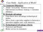 case study application of model