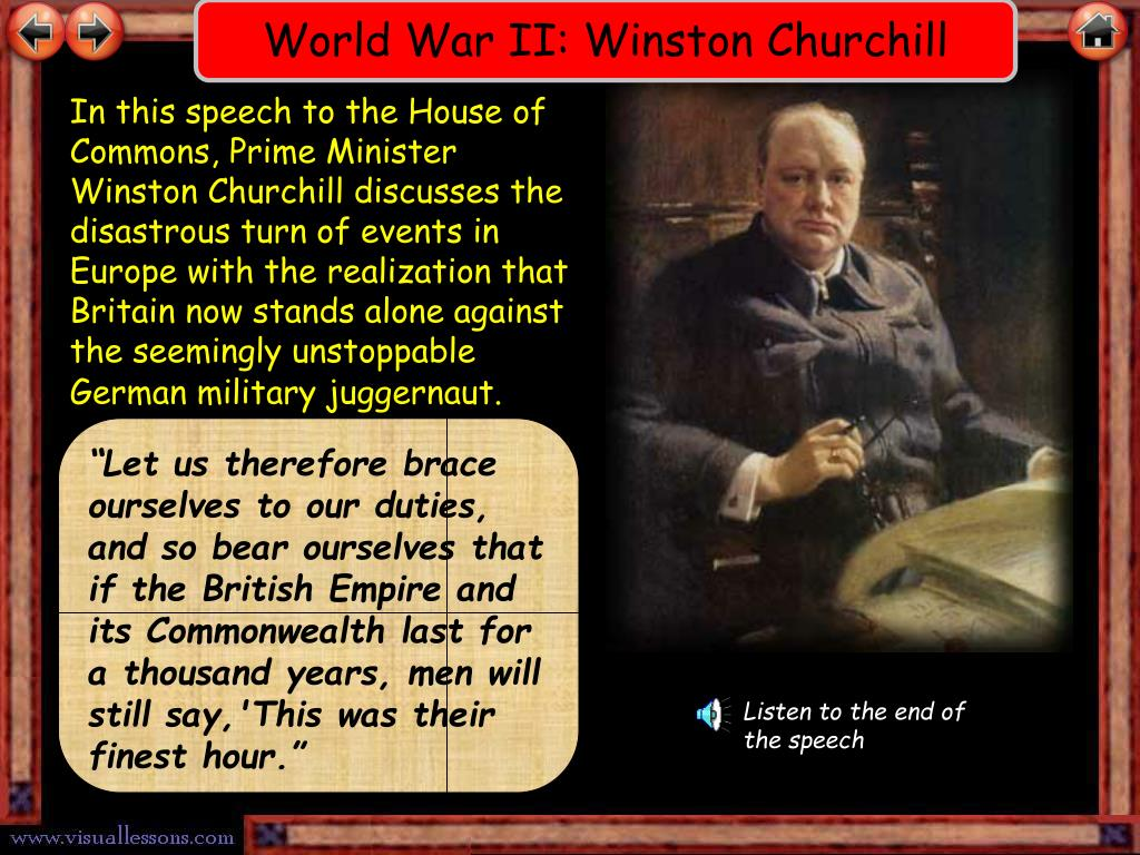World War II: Winston Churchill