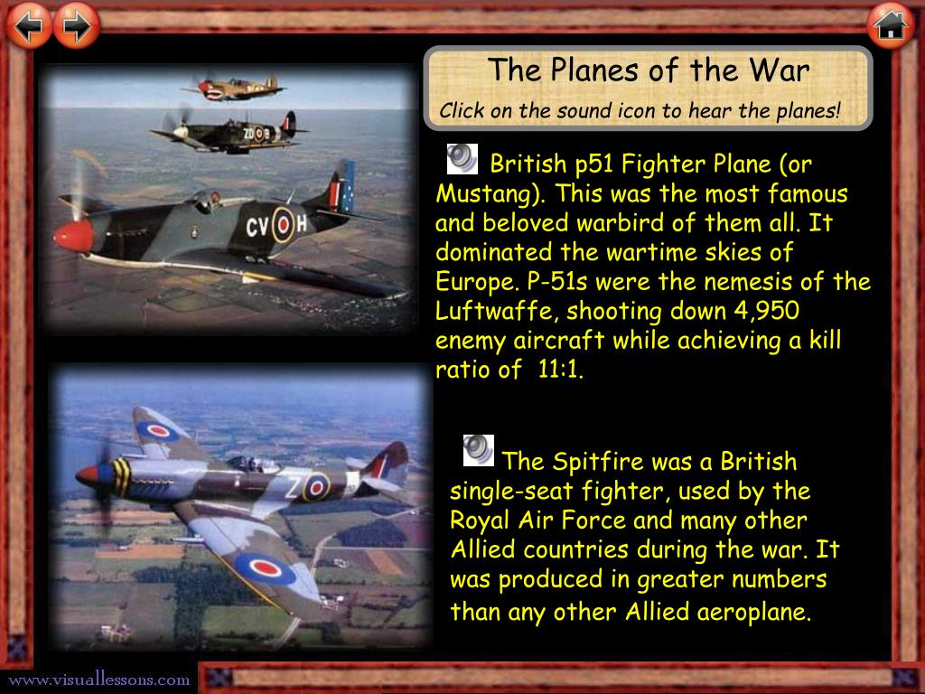 The Planes of the War