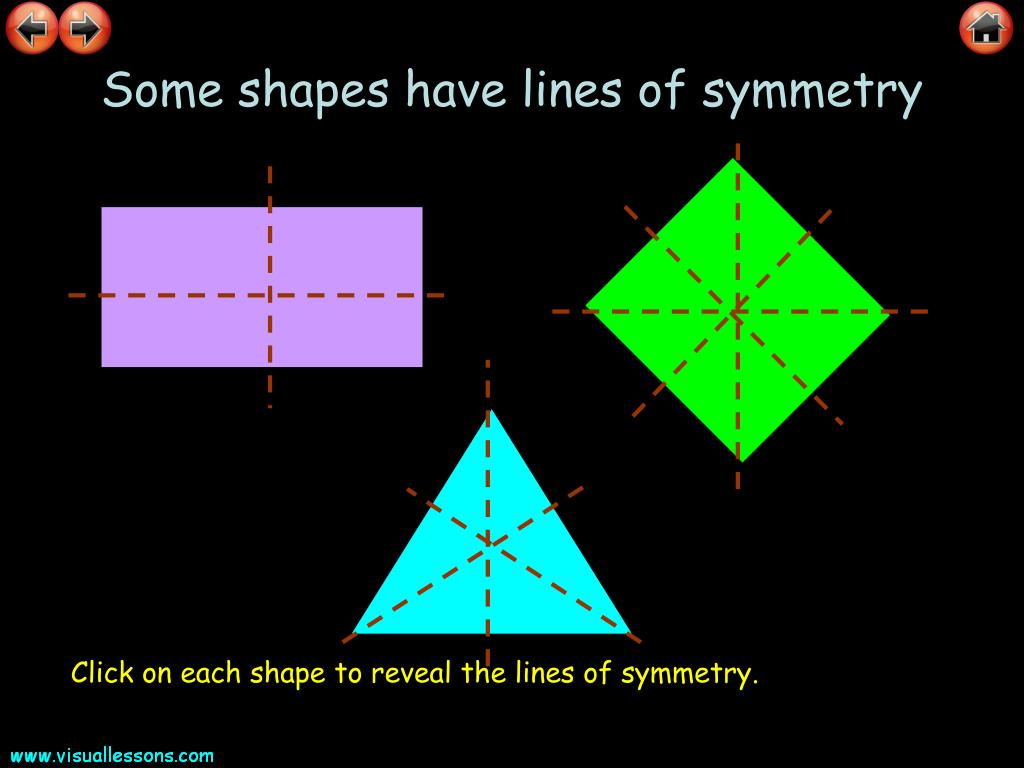 Some shapes have lines of symmetry