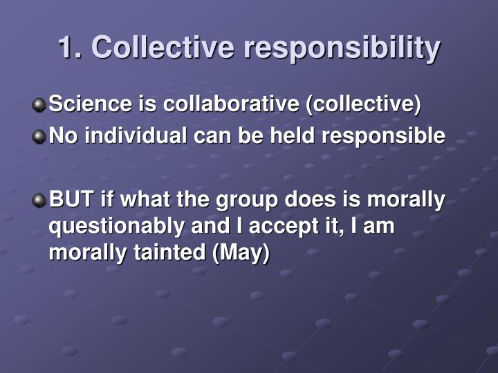 1. Collective responsibility