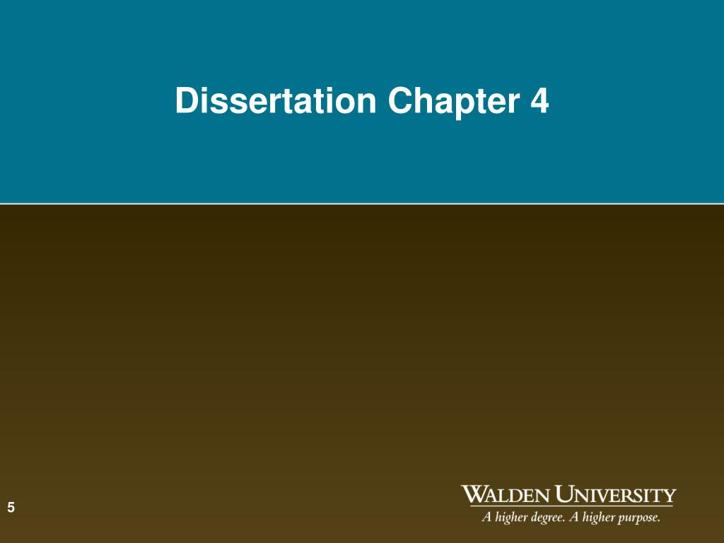 dissertation chapter 4 Our consultants can provide the organization necessary to provide readers with a coherent flow of information the purpose of this chapter is to summarize the collected data and the.