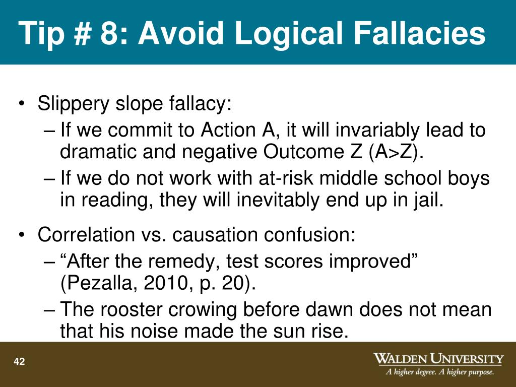 avoid fallacies thesis statement