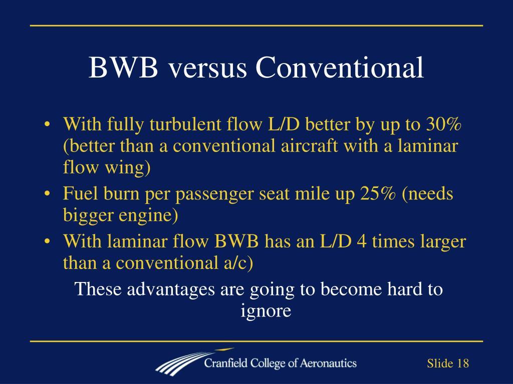 BWB versus Conventional