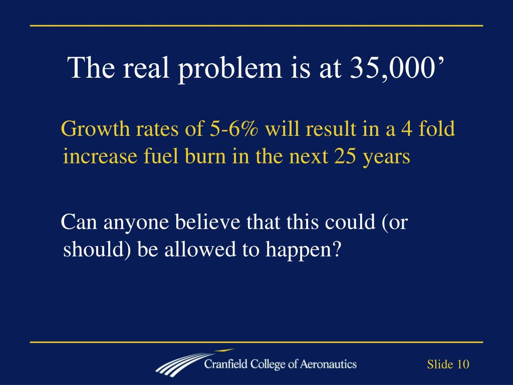 The real problem is at 35,000'