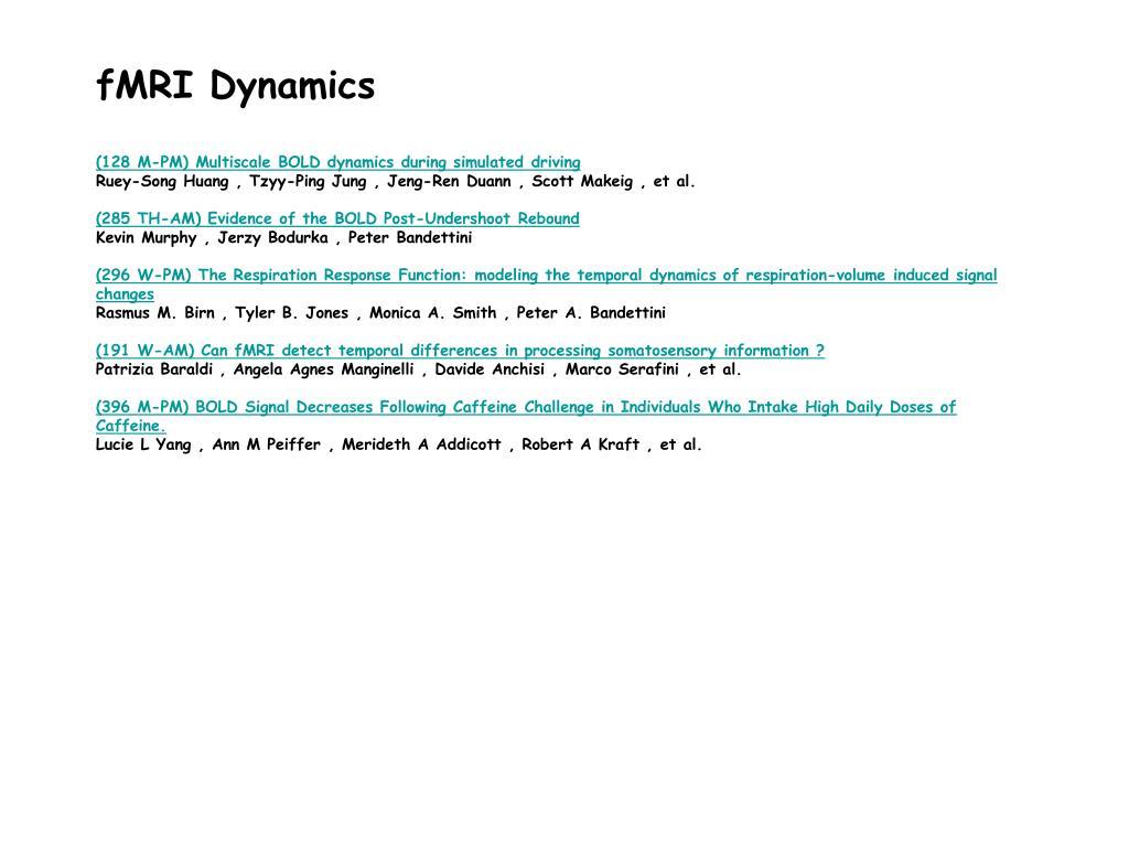 fMRI Dynamics
