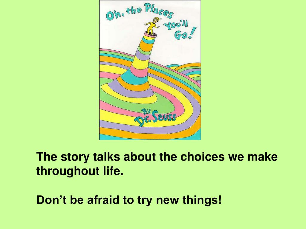 The story talks about the choices we make throughout life.