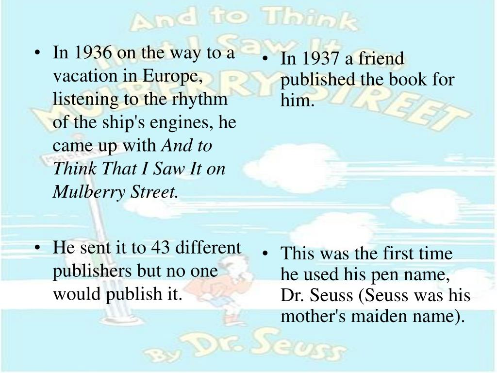 In 1936 on the way to a vacation in Europe, listening to the rhythm of the ship's engines, he came up with