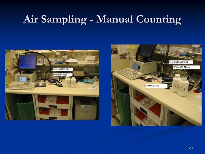 Air Sampling - Manual Counting