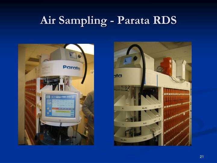 Air Sampling - Parata RDS