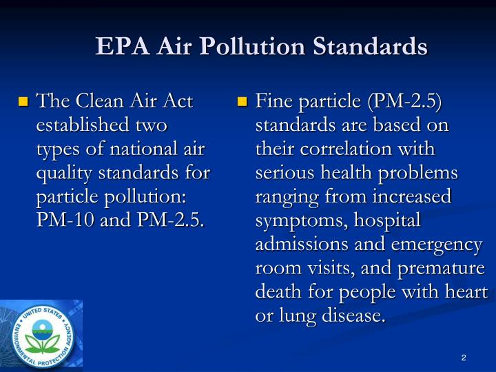 EPA Air Pollution Standards