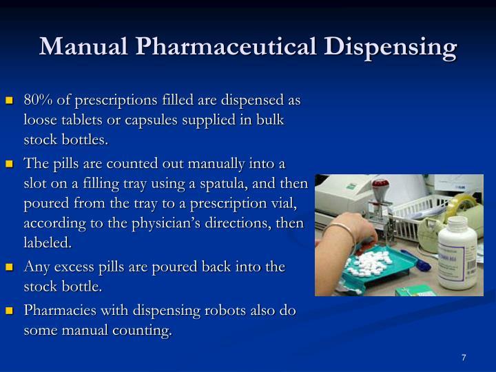 Manual Pharmaceutical Dispensing