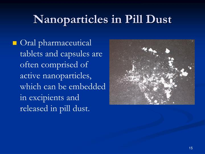Nanoparticles in Pill Dust
