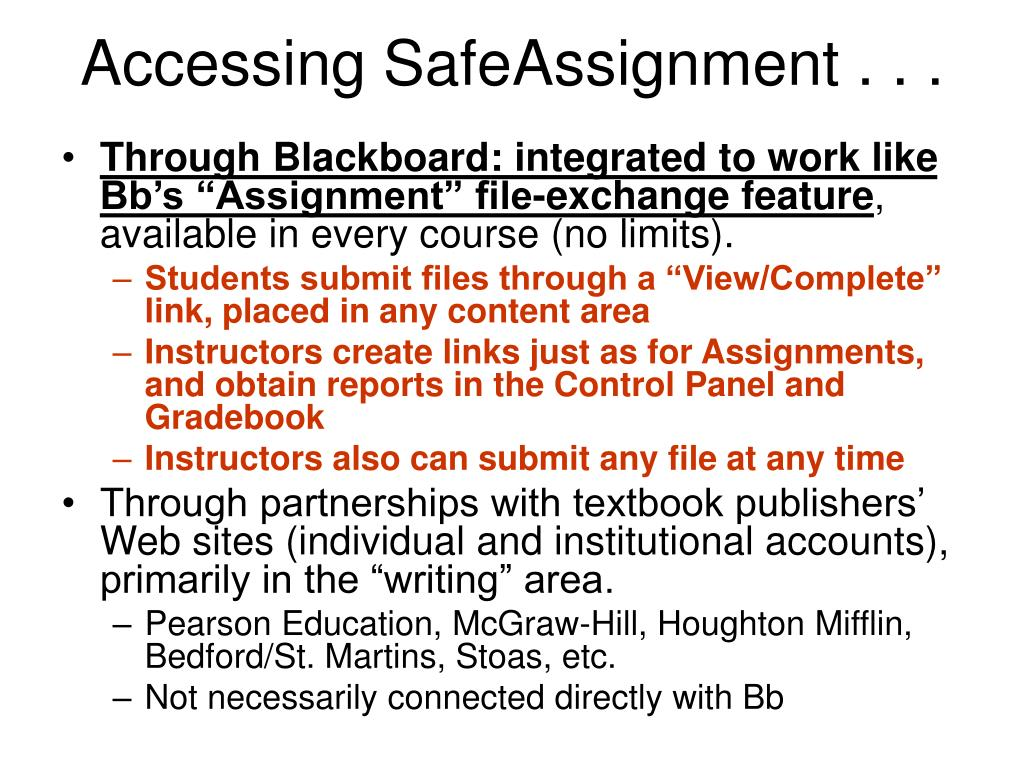 Accessing SafeAssignment . . .
