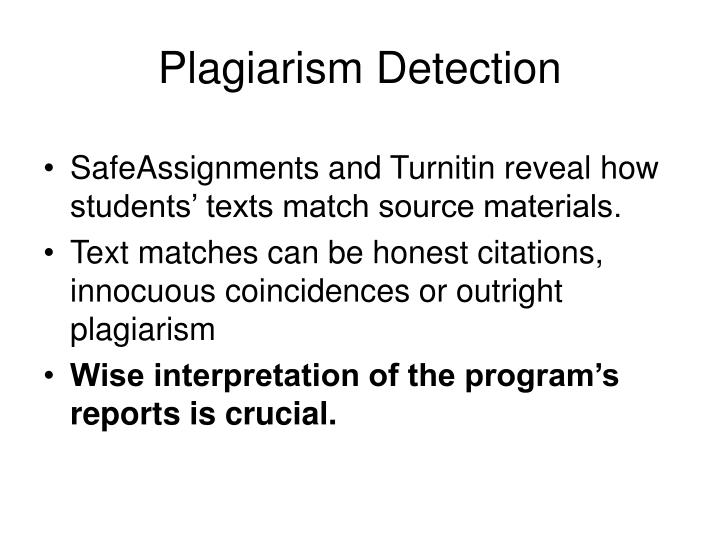 Plagiarism detection l.jpg