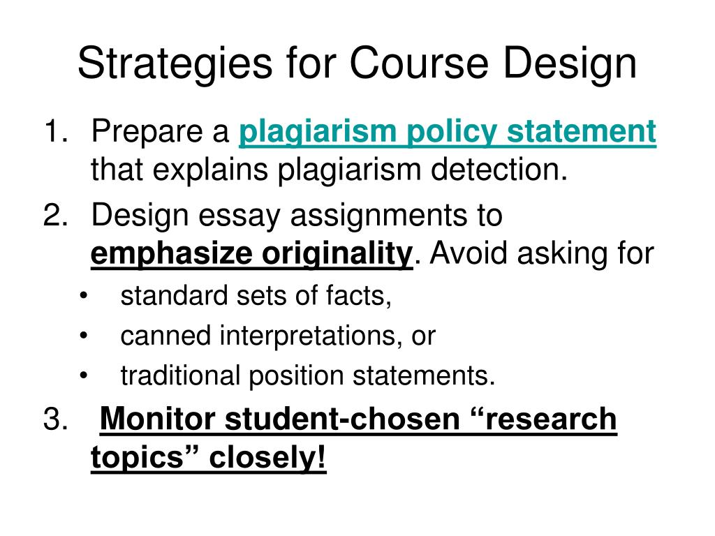 Strategies for Course Design